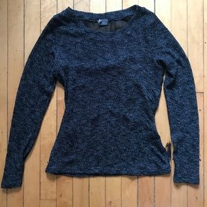 Dark gray sparkle and fade sweater M